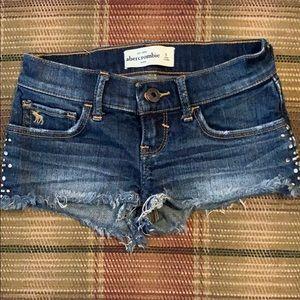 Abercrombie girls size 8 cutoff shorts